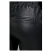Black Leather Boyfriend Pants  NOAH