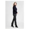 ZINGA Leather Echt leren broek dames zwart   Lina 6999