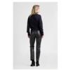 ZINGA Leather Echt leer broek dames zwart   Lina 6999