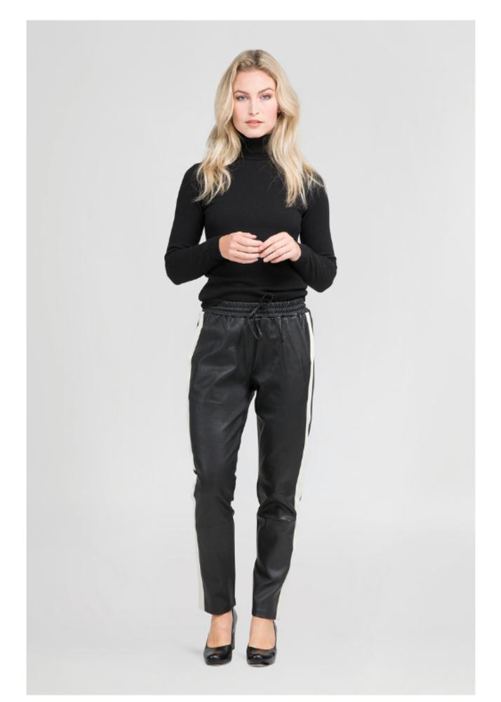 EVI Schwarze Hose mit Seitenstreifen