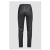 ZINGA Leather Boyfriend pants, real leather, women black | Evi 6999