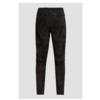 Schwarze Veloursleder-Hose mit Seitenstreifen EVI