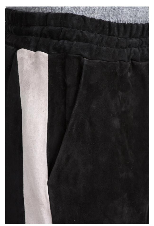 ZINGA Leather Boyfriend pants real leather, suede women black   Evi 4999