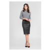 ZINGA Leather Real leather pencil skirt women black | Coco 6999