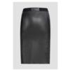 ZINGA Leather LEDERROCK ECHTLEDER IN SCHWARZ AUS GLATTLEDER  COCO 6999