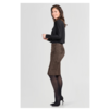 ZINGA Leather Echt leer, suede kokerrok dames bruin | Coco 4116