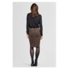 COCO 4116 Stretch Suede pencil skirt.