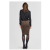ZINGA Leather COCO 4116 Stretch Suede pencil skirt