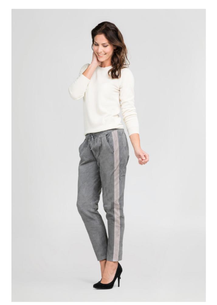 EVI Dark Grey pants with Sidestripe