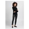 ZINGA Leather Boyfriend pant real leather women black | Noah 6999