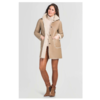 ZINGA Leather Real reversible lambskin coat women ecru | Sophie 8200