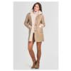 ZINGA Leather Reversible Jas van lamsleer dames ecru | Sophie 8200