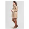 ZINGA Leather Echt Leder Lammfell Mantel Damen Ecru | Sophie 8200