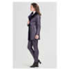 ZINGA Leather Echt Leder Lammfell Mantel Damen Violett | Angela 7100