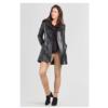 ZINGA Leather LOIS 5999 Black leather trench coat