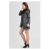 ZINGA Leather Real leather trench coat women black | Lois 5999