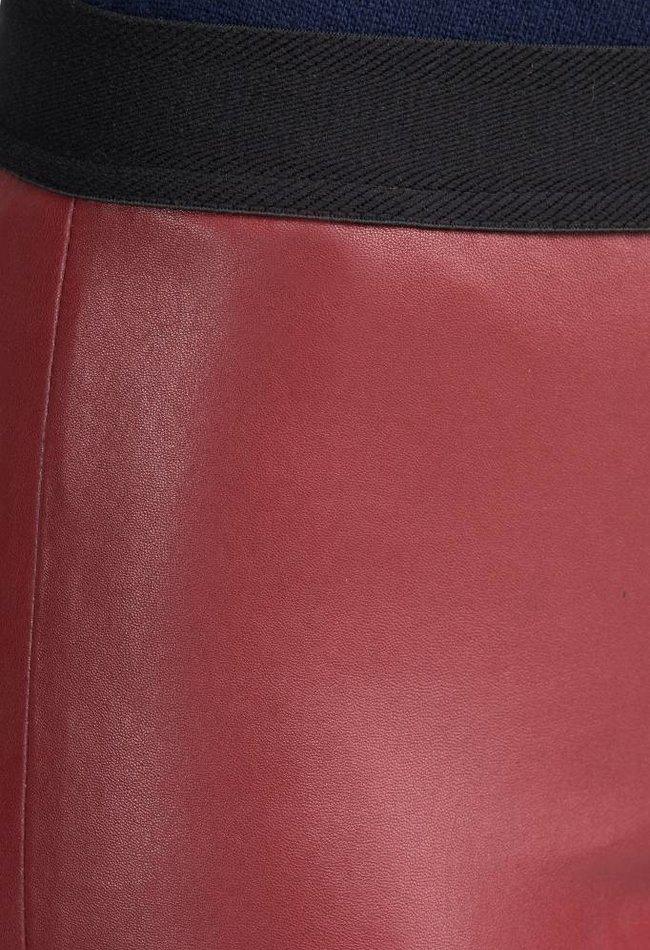 ZINGA Leather Flare broek echt leer dames Syrah Red | Gaby 6700