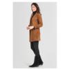 ZINGA Leather Echt leren, suède blazer dames Cognac | Helena 2400