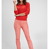 ZINGA Leather Flare pants real suede ladies pink | Gaby 4640