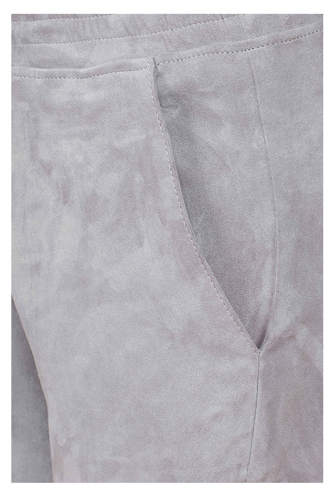 ZINGA Leather LEDER SCHLUPFHOSE DAMEN IN HELLGRAU AUS VELOURSLEDER | NOAH 4880