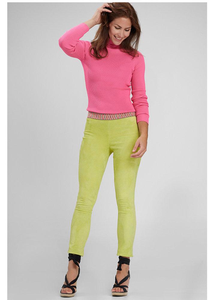 ZINGA Leather Genuine leather suede leggings ladies yellow | Roxy 4741