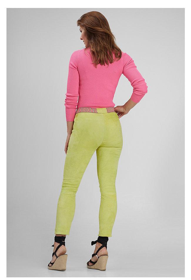 ZINGA Leather Echt leer suede legging dames geel | Roxy 4741