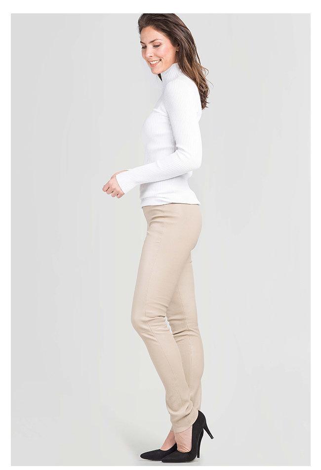 ZINGA Leather Echt Leder leggings Damen ecru | Uma 6101
