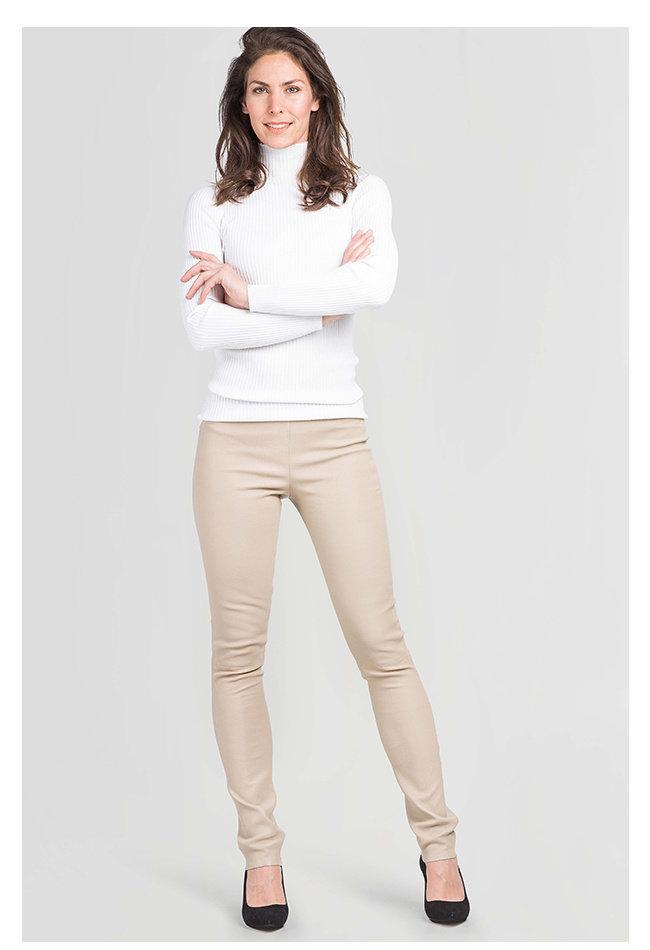 ZINGA Leather Echt leer legging dames ecru | Uma 6101