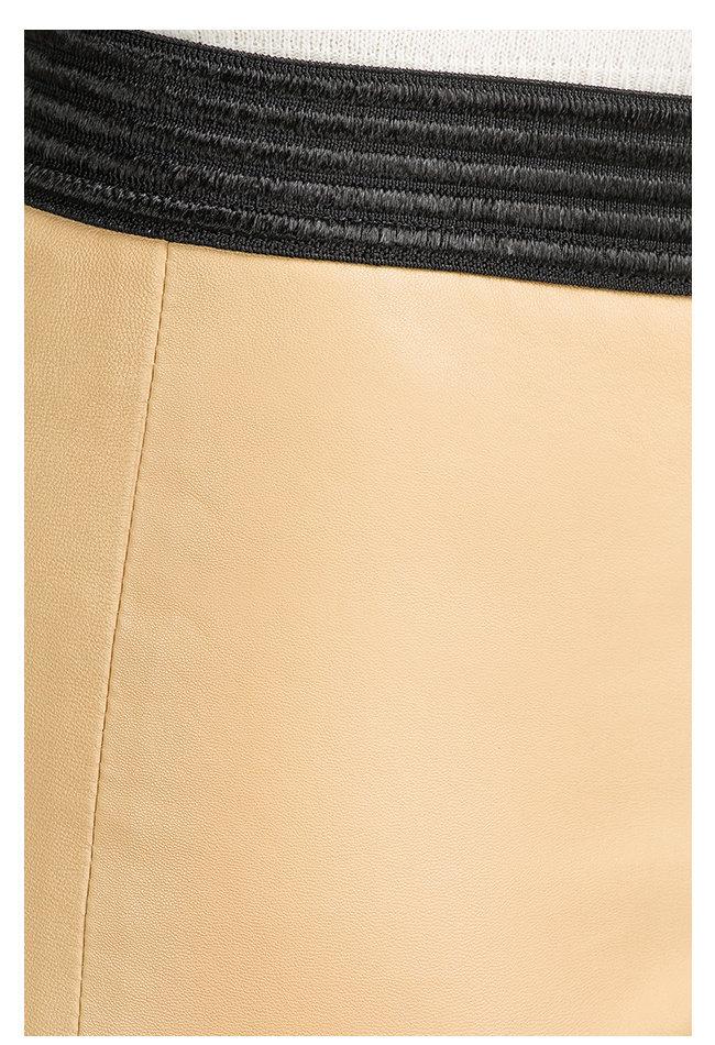 ZINGA Leather LEDERLEGGINGS IN BEIGE AUS GLATTLEDER | UMA 6320