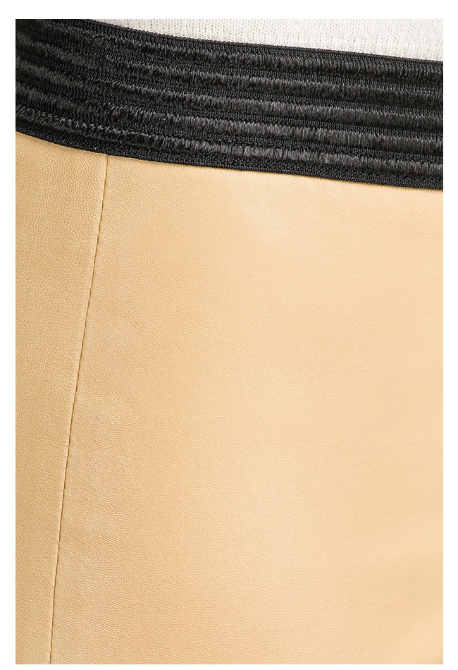 ZINGA Leather Real leather leggings women ecru   Uma 6320
