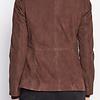 ZINGA Leather Real leather, suede blazer ladies brown | Vera 9116