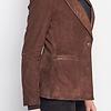 ZINGA Leather VERA 9116 Blazer suede met metallic revers