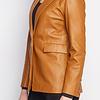 ZINGA Leather Echt leer blazer dames cognac | Julia 5300