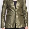 ZINGA Leather Echt Leder Bläser damen Grun velour metallic | Julia 9210