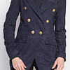 ZINGA Leather Echt leee, suede damesblazer Navy | Nola 2200