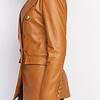 ZINGA Leather Real leather blazer ladies cognac | Nola 5300