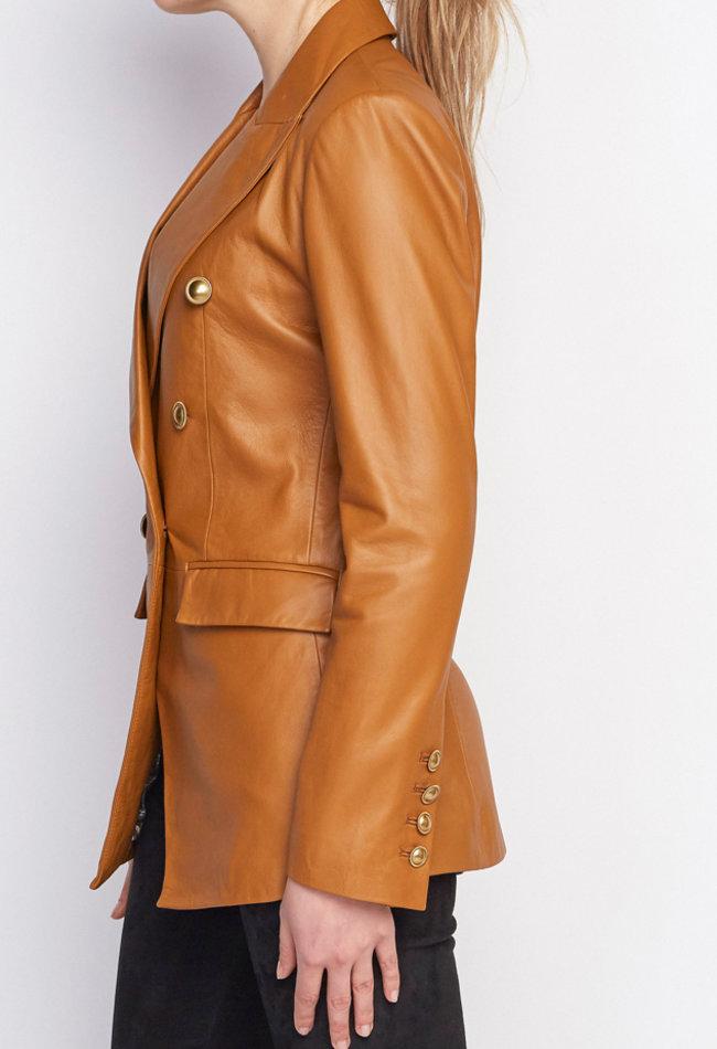 ZINGA Leather LEDERBLAZER DAMEN IN COGNAC AUS LEDER | NOLA 5300