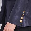 ZINGA Leather NOLA 9200 metallic suede blazer