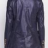 ZINGA Leather Echt leer, suede blazer dames Navy Metallic | Nola 9200
