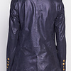 ZINGA Leather Real leather, suede blazer ladies Navy Metallic | Nola 9200