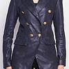 ZINGA Leather NOLA 9200 blazer van metallic suede