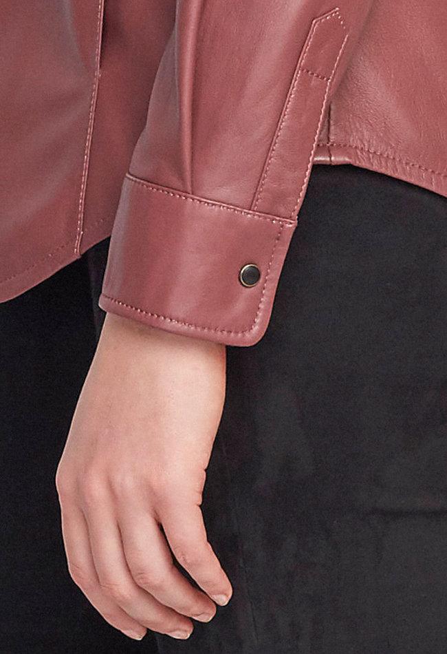 ZINGA Leather Echt Leder Bluse damen Quarz | Anna 5230