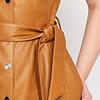 ZINGA Leather Echt Leder Kleid Damen Cognac | Suze 5300