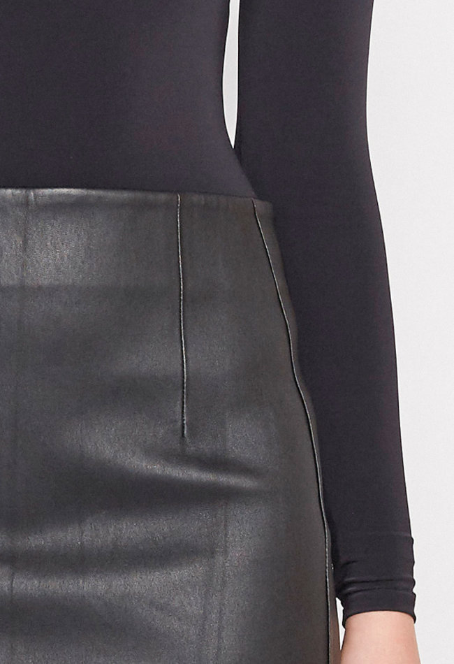 ZINGA Leather Echt leren, lange kokerrok dames zwart | Christina 6999