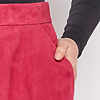 ZINGA Leather Real leather, suede long skirt women Fucsia | Rosa 2610