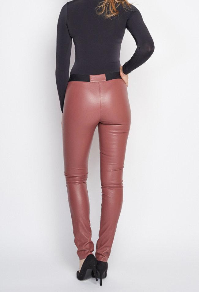 ZINGA Leather Echt lederhose legging damen  | Uma 6230
