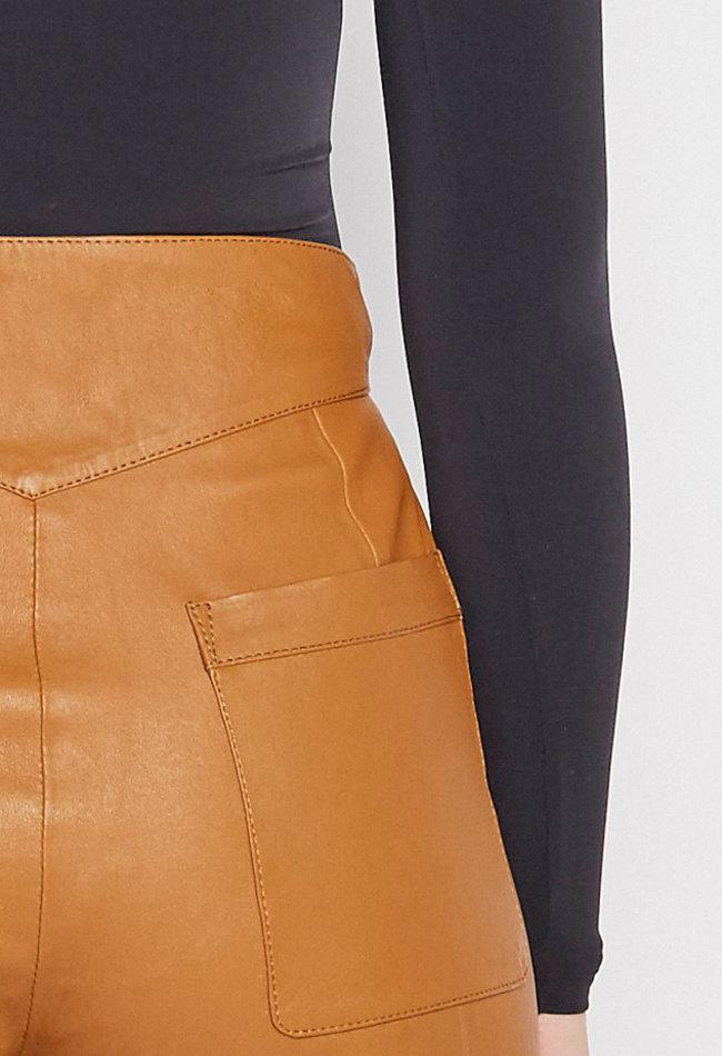 ZINGA Leather Echt leer broek dames cognac | Nora 6500