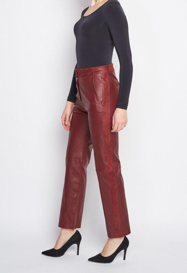 ZINGA Leather Echt Lederhose damen Bordeaux | Romy 6700
