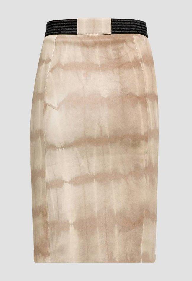 ZINGA Leather BLEISTIFTROCK AUS STRETCHLEDER IN ECRU   BATIK   COCO 6101
