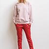 ZINGA Leather Boyfriend broek echt leer dames rood | Noah 6400